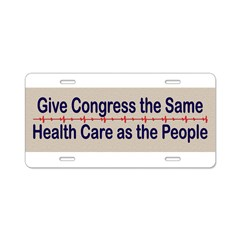 Give Congress Healthcare Aluminum License Plate