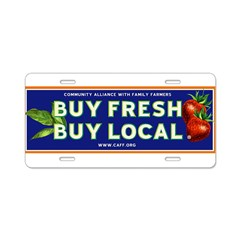 Buy Fresh Buy Local classic Aluminum License Plate