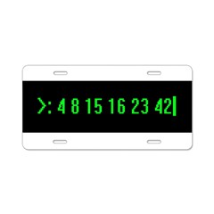 Numbers Aluminum License Plate