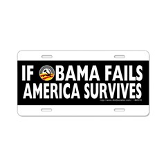 Anti-Obama Obama Fails America Survives Aluminum License Plate