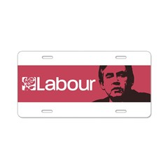 Gordon Brown Labour Party Aluminum License Plate