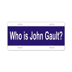 Who is John Gault? Aluminum License Plate