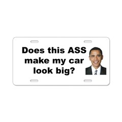 Does this ASS make my car look big? Aluminum License Plate