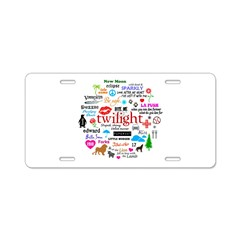 Twilight Memories Aluminum License Plate