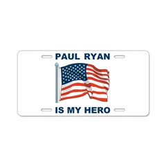 Paul Ryan is my Hero! Aluminum License Plate