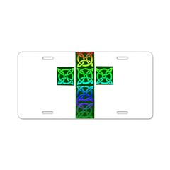 Glowing Celtic Cross Aluminum License Plate