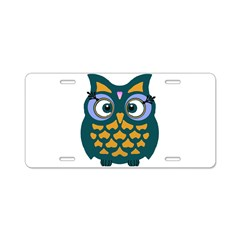 Retro Owl Aluminum License Plate