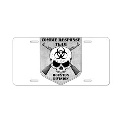 Zombie Response Team: Houston Division Aluminum License Plate