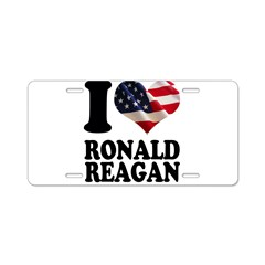 I heart American Flag Ronald Aluminum License Plate