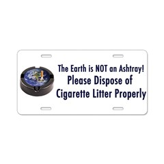 ashtray2 Aluminum License Plate