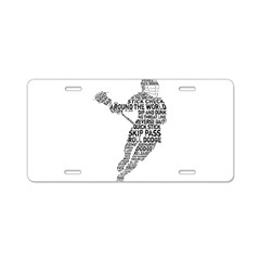 Lacrosse LAX Player Aluminum License Plate