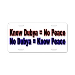 No Dubya Aluminum License Plate