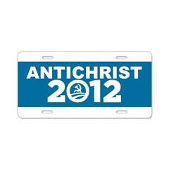 ANTICHRIST 2012 Aluminum License Plate