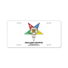 CUSTOM OES EMAIL Aluminum License Plate
