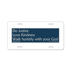 Bumper Sticker - Micah 6:8 Aluminum License Plate