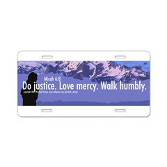 Micah 6:8 Aluminum License Plate