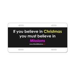 Christmas & Mission Aluminum License Plate