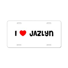 I LOVE JAZLYN Aluminum License Plate