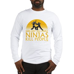 ninja4a-black Long Sleeve T-Shirt