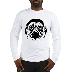Pug Revolutionary Icon- Ash Grey Long Sleeve T-Shirt
