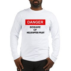 Beware/ Go Vertical Helicopter Ash Grey Long Sleeve T-Shirt