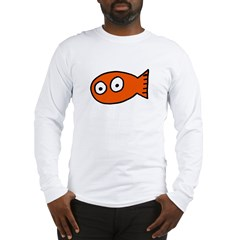 Tickles Goldfish Ash Grey Long Sleeve T-Shirt