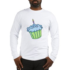 Cute Cupcake (blue) Long Sleeve T-Shirt