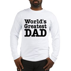World's Greatest Dad Ash Grey Long Sleeve T-Shirt