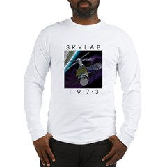 Shrox Space Art Skylab Long Sleeve T-Shirt