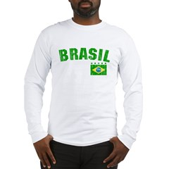 BRAZIL-BLACK-worn Long Sleeve T-Shirt