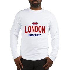 London England Ash Grey Long Sleeve T-Shirt