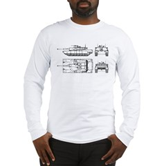 M1-A1 Abrams Main Battle Tank Long Sleeve T-Shirt