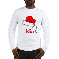 I Believe in Santa Ash Grey Long Sleeve T-Shirt