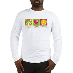 Peace Love Tennis Long Sleeve T-Shirt