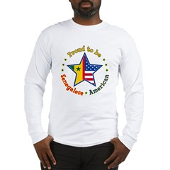 /Senegalese American Long Sleeve T-Shirt