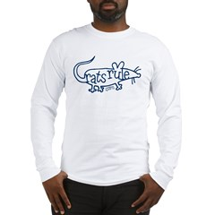 Rats Rule Outline Long Sleeve T-Shirt