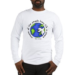 Imagine - World - Live in Peace Long Sleeve T-Shirt
