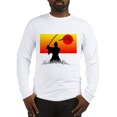 Samurai in Sun Long Sleeve T-Shirt