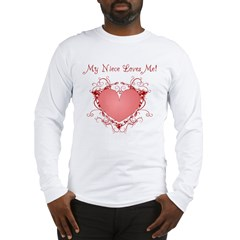 My Niece Loves Me Heart Long Sleeve T-Shirt