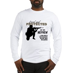 Loved  Protected Nephew Long Sleeve T-Shirt