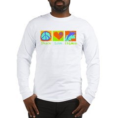 Peace Love Dolphins Long Sleeve T-Shirt