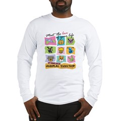 Meet Love Life z10x10 Long Sleeve T-Shirt