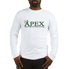 Apex North Carolina Peak of Good Living Long Sleeve T-Shirt