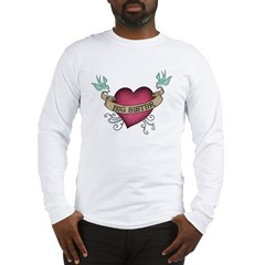 Big Sister Heart Tattoo Long Sleeve T-Shirt