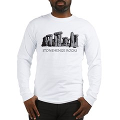 stonehenge_bw_onblk Long Sleeve T-Shirt