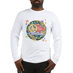 Peace Love Obama [globe] Long Sleeve T-Shirt