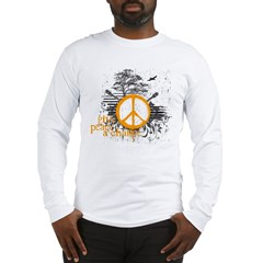 give_peace_scene_orange_dark Long Sleeve T-Shirt