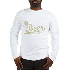 BEER_CHEAPER_THAN_GAS-dark Long Sleeve T-Shirt