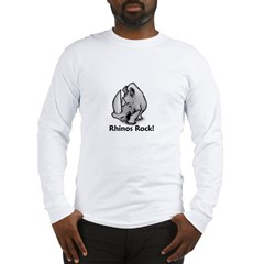 Rhinos Rock! Long Sleeve T-Shirt