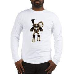 musicrobot_color.jpg Long Sleeve T-Shirt